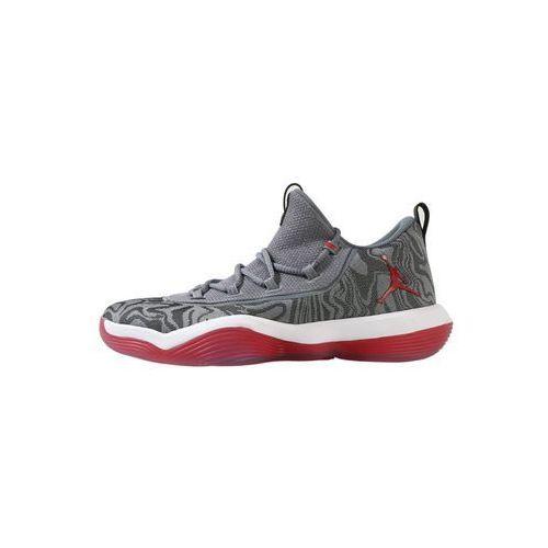 Jordan LUNAR SUPER.FLY LOW Obuwie do koszykówki wolf grey/university red/cool grey/white