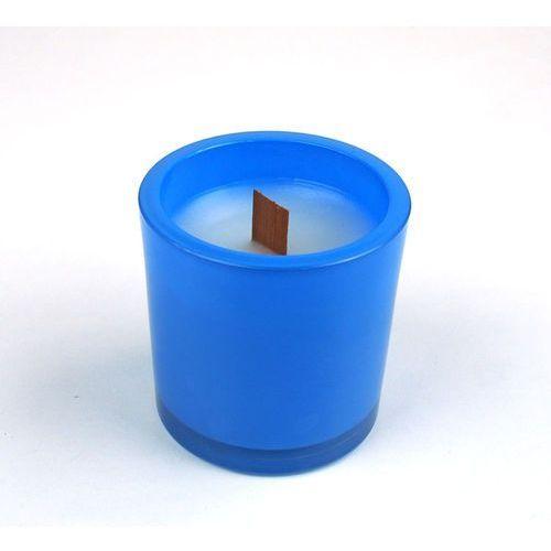 Slow light Świeca zapachowa ombra round niebieska (noble touch) marki slowlight - niebieski