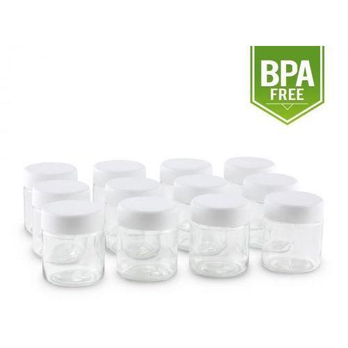 szklanki zapasowe dla maszyny do jogurtów gaia zakrętka 210ml 12 sztuk marki Klarstein