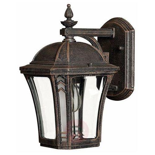 Elstead Ogrodowa lampa ścienna wabash hk/wabash2/s zewnętrzna oprawa latarenka na taras vintage outdoor ip44 patyna
