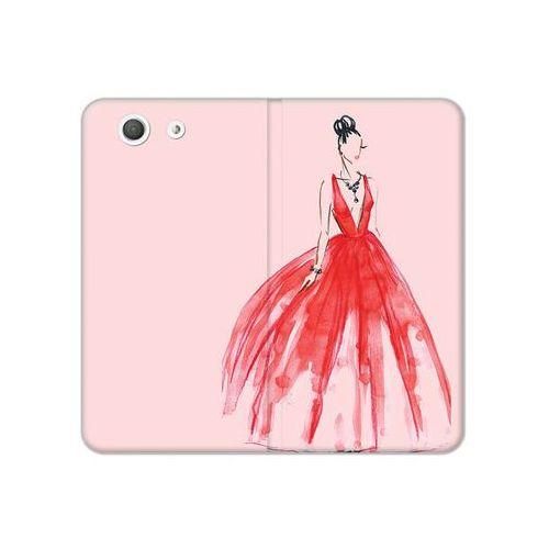 Sony Xperia Z3 Compact - etui na telefon Flex Book Fantastic - czerwona suknia, ETSN133FBFCFB116000