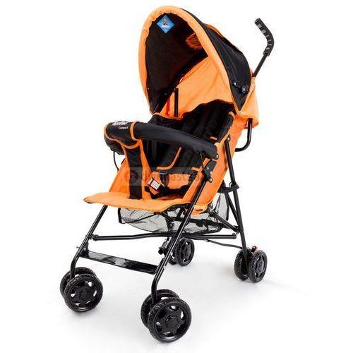 Wózek spacerówka compact e czarno-pomarańczowy marki Moolino