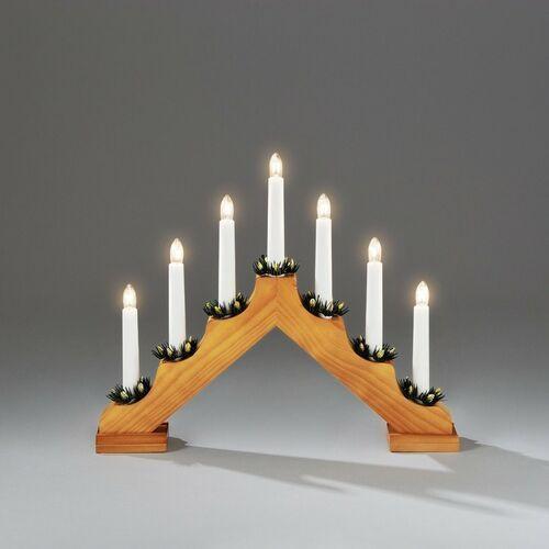 4-home Świecznik adwentowy drewniany gavar, ciemnobrązowy