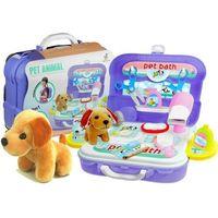 Walizka plecak psi salon piękności akcesoria 20 el marki Lean toys