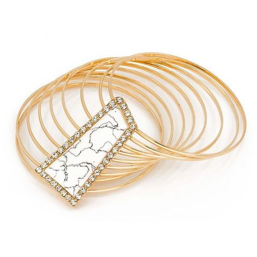 Bransoletka z kamieniem kość słoniowa - kość słoniowa marki Cloe