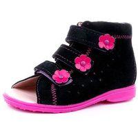 Buty profilaktyczne  model 1041/1042 czr czarny - róż marki Dawid