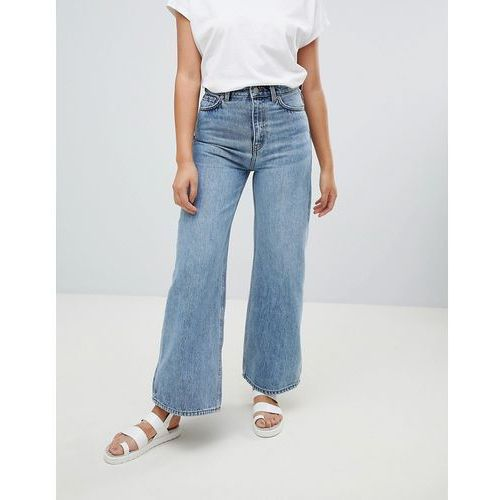 Weekday ace wide leg jeans with organic cotton in blue - blue