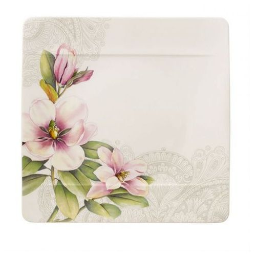 - quinsai garden płaski kwadratowy talerz marki Villeroy & boch