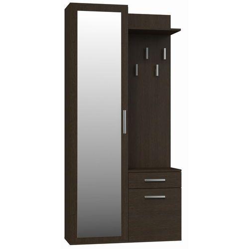 Garderoba szafa z lustrem + wieszak wenge, TS-0718