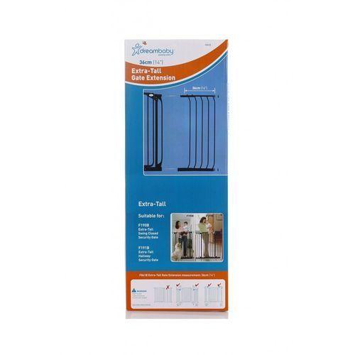 Rozszerzenie bramki zabezpieczającej DREAMBABY PCR841B 36/100 cm Czarny + DARMOWY TRANSPORT! (9312742384111)