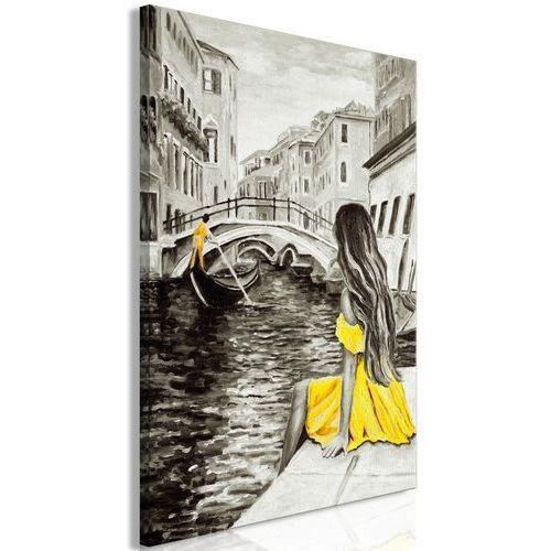 Obraz - dalekie marzenia (1-częściowy) pionowy żółty marki Artgeist
