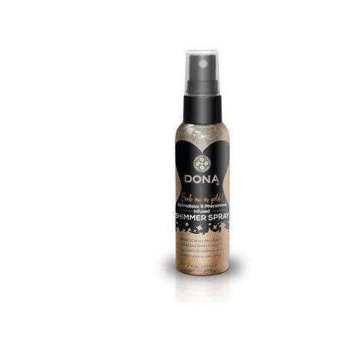 Spray z połyskiem do skóry - Dona Shimmer Spray Gold 60 ml Złoty