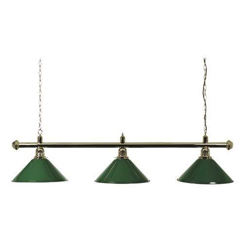 Lampa NOSTALGIA L3 złota klosze zielone, 4B-0060-4
