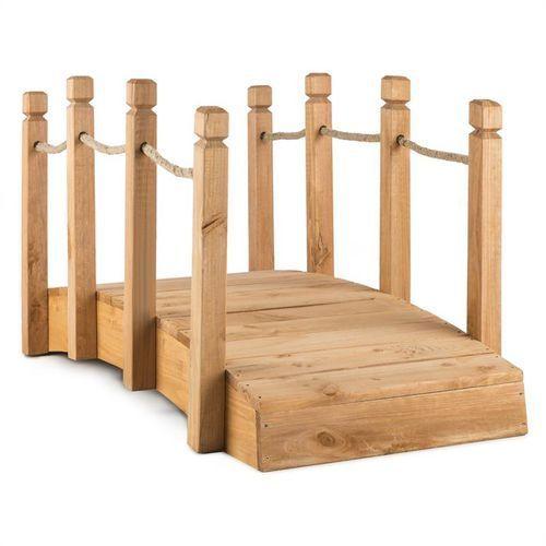 rialto mostek ogrodowy kładka ozdobna 58x58x122cm (sxwxg) lite drewno marki Blumfeldt