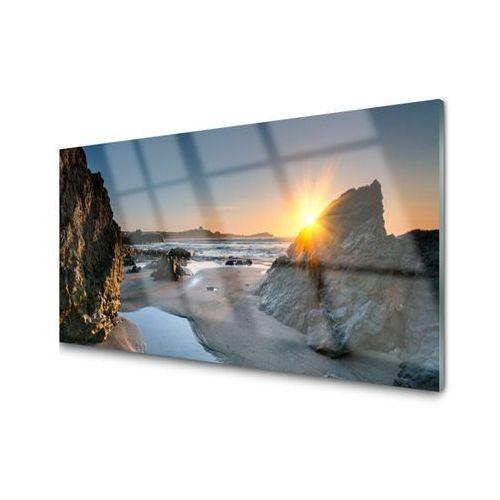 Tulup.pl Obraz akrylowy skała plaża słońce krajobraz