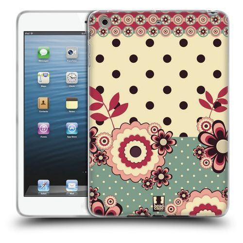 Head case Etui silikonowe na tablet - floral dots pink cream