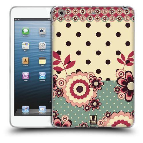 Head case Etui silikonowe na tablet - floral dots pink cream