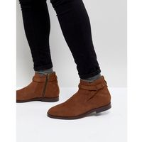 H by hudson cutler suede chelsea boots in tan - tan