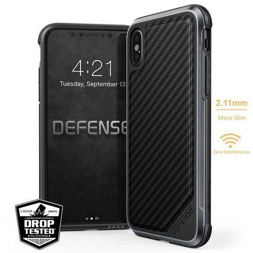 X-Doria Defense Lux - Aluminiowe etui iPhone X (Black Carbon Fiber) (6950941460729)