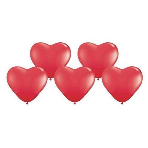 Baloniki czerwone serca bardzo duże - 40 cm - 5 szt.