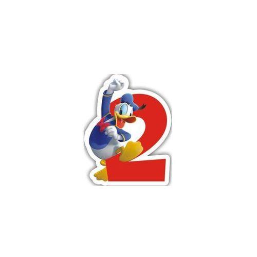 """Świeczka cyferka dwójka """"2"""" Myszka Mickey - 1 szt."""