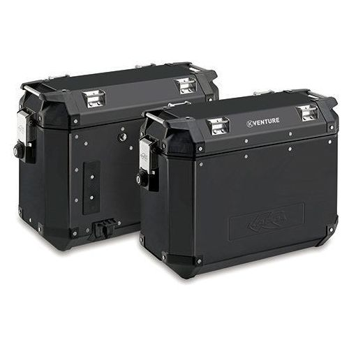 kve37bpack2 kufer boczny 37l monokey k-venture aluminiowy czarny (para = 2 szt) marki Kappa