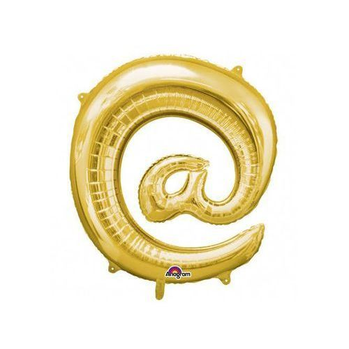"""Amscan Balon foliowy znak """"@"""" złoty - 33 x 35 cm"""