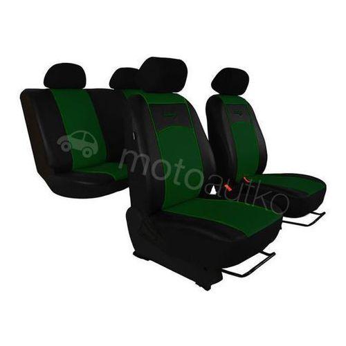 Pokrowce samochodowe uniwersalne Eko-skóra Zielone Citroen C5 III od 2008 - Zielony
