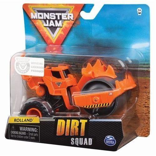 Pojazd buldożer 1:64 dirt squad rolland monster jam marki Spin master