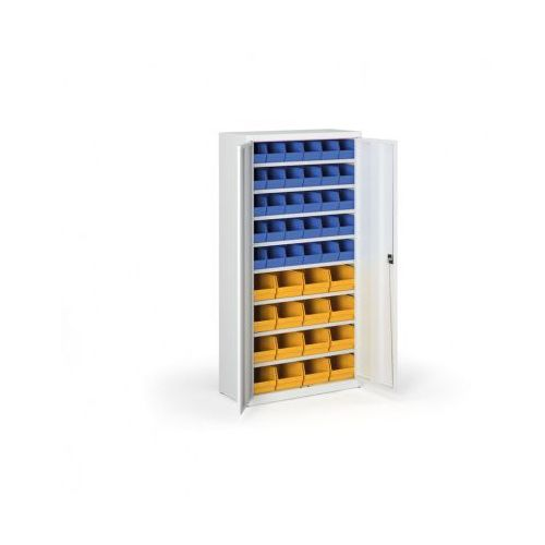 Szafa z plastikowymi pojemnikami - 1800x920x400 mm, 30x B, 16x C