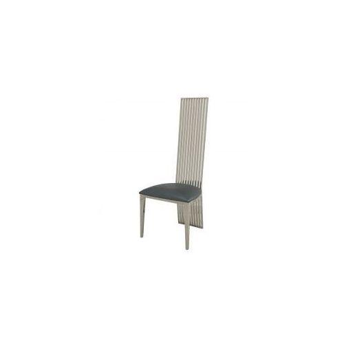 Bellacasa Krzesło glamour parker blue eco - nowoczesne krzesło tapicerowane ekoskóra (5908273396712)