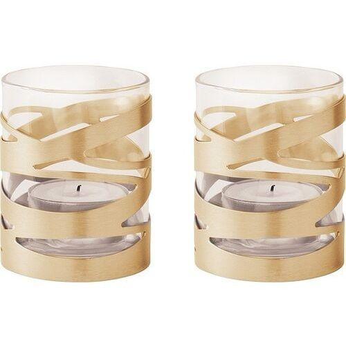 Świąteczny świecznik na tealighty, złote, 2 szt - Stelton (5709846019980)