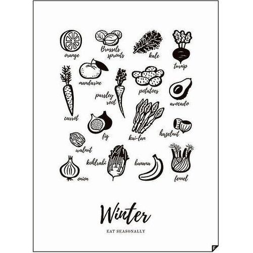 Plakat Winter - Eat Seasonally 30 x 40 cm
