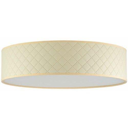 Abażurowa lampa sufitowa trece 5902429652882 okrągła oprawa klasyczna biała marki Sotto luce
