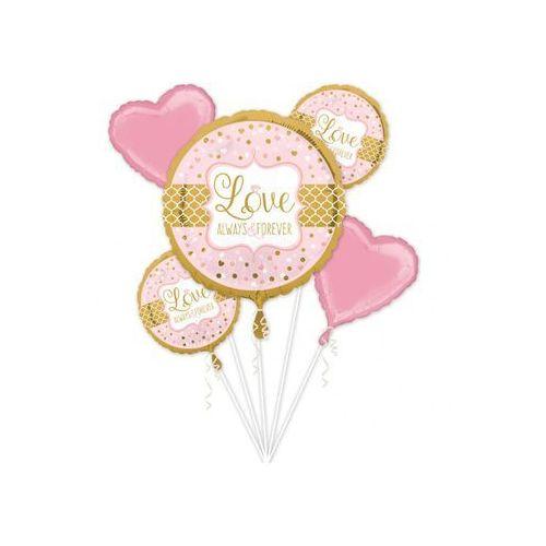 Bukiet balonów foliowych na wesele - 1 kpl.
