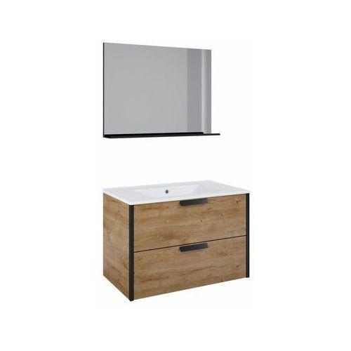 Sensea Zestaw szafka z umywalką loft canela 80
