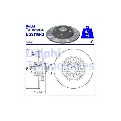 Delphi Tarcza hamulcowa  bg9116rs (5012759503904)