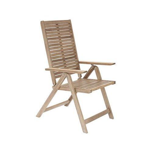 Fotel ogrodowy solaris drewniany z ragulowanym oparciem marki Naterial