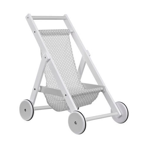 Drewniany Wózek dla Lalek Kids Concept - Szary KC1000098, KC1000098