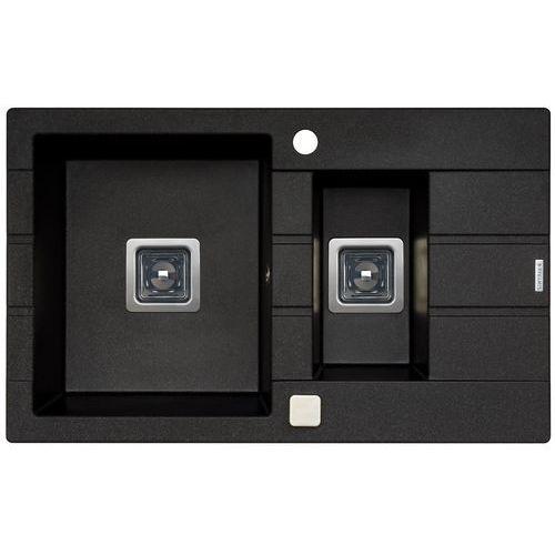 Zlewozmywak PYRAMIS Arkadia (78x48) 1½B 1D 070015601 Czarny (5201217236427)