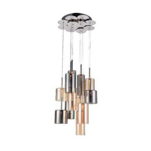 Lampa wisząca Flaconetta chrom/ szampański/ szary G4 20W 12 kloszy, 1301228
