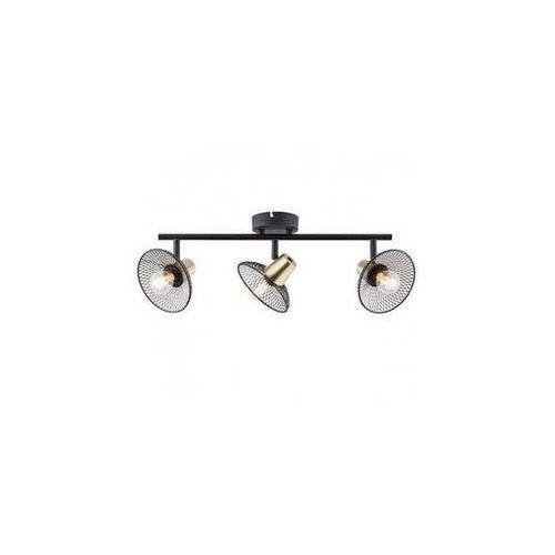 Brilliant gordon 97199/72 plafon lampa sufitowa 3x40w e14 czarna (4004353375651)