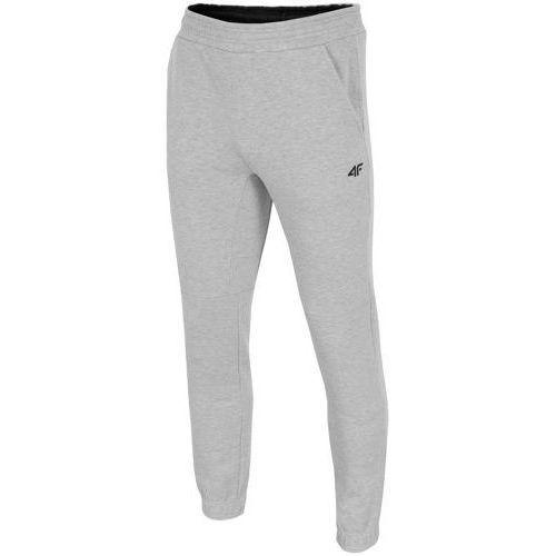 4f Spodnie dresowe męskie spmd002 - jasny szary ||szary