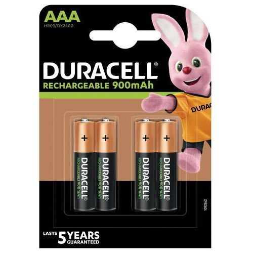 4 x akumulatorki Duracell Stays Charged Duralock R03 AAA 850 mAh (blister)