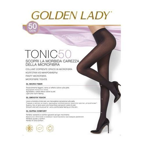Rajstopy tonic 50 den 5-xl, brązowy/marrone scuro, golden lady marki Golden lady