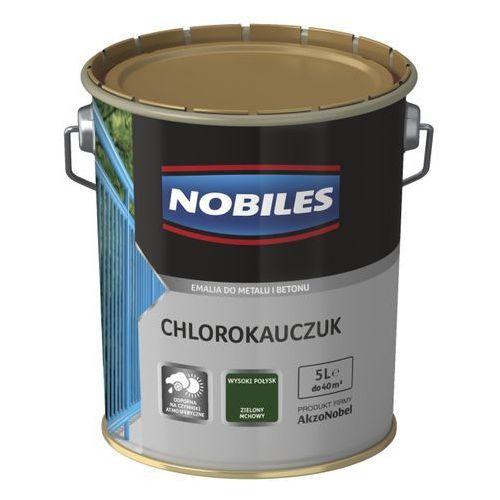 Emalia chlorokauczukowa Nobiles do metalu i betonu zielona mchowa 5 l, 65170/60040165