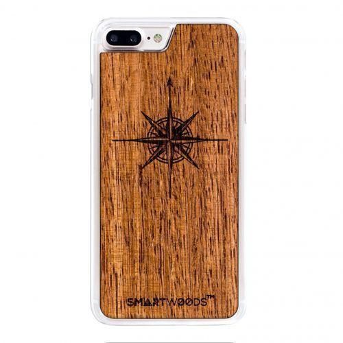 Smart woods Etui smartwoods – róża wiatrów clear iphone 8 plus