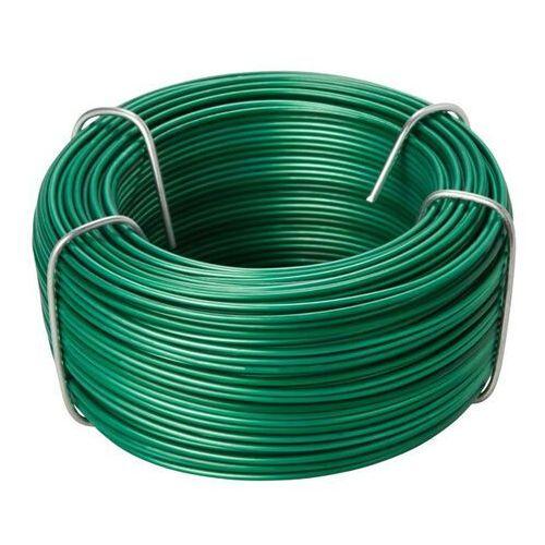 Diall Drut stalowy pcv 1 2-1 4 mm x 40 m zielony