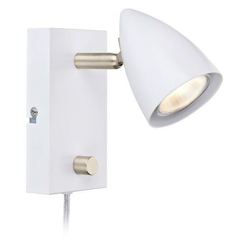 Kinkiet lampa ścienna ciro 107408 regulowana oprawa metalowa reflektorek biały marki Markslojd