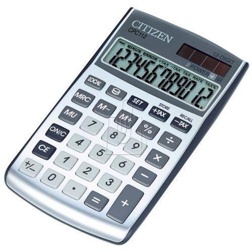 Kalkulator cpc-112wb srebrny - wysyłka 24h - gwarancja bezpiecznych zakupów - autoryzowany dystrybutor citizen marki Citizen
